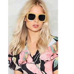 New Nasty Gal nude square off fashion sunglasses
